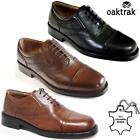 Mens Leather Smart Casual Lace Up Work Office Formal Oxford Toe Cap Shoes Size