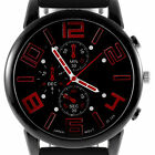 Men's Fashion Black Stainless Steel Luxury Sport Analog Quartz Wrist Watch LCNV0