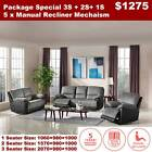 Fremantle fabric 3 seater 2 seater 1 seater recliner sofa lounge suite couch