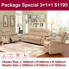 Tuscana fabric 3 seater 1 seater recliner sofa lounge suite couch