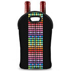 Neoprene 2-Bottle Wine Carrying Tote Bag For Wine,Soft Drink,Beer,Cans,Champagne