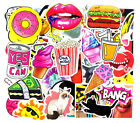50/500 pcs Stickers Mixed Bike Travel Doodle accessory car detector car styling