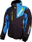 FXR Mens Black/Blue/Hi-Vis Snowmobile Recoil Jacket Snocross