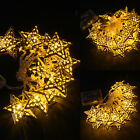 Star Batteries Christmas Lights Fairy Metal Sequence Lights Party Decoration