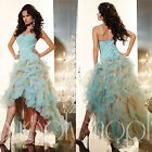 Sexy High-Low Organza Formal Ballgown Dresses Cocktail Prom Evening Desses