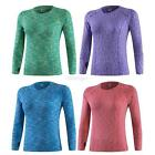 Womens Compression Long Sleeve Athletic Sports T shirt Tight Fitness Yoga Tops