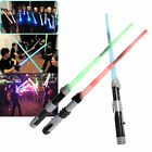 Plastic Retractable Sword toys With Duel Sound and multiple Colour Light XP