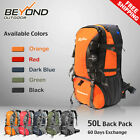 50L Rucksack CAMPING Camp HIKING MOUNTAIN TRAVEL BACKPACK Equipment Gear Bag