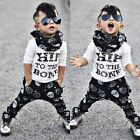 Toddler Kids Baby Boys Outfits Clothes T-shirt Tops+Long Pants Trousers 2PCS Set