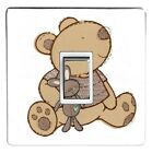 I LOVE MY BEAR light switch stickers, cover, skin, decal. (Choice of 10 images)