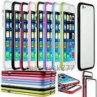 for apple iphone 6 6s bumper case cover black white hot pink blue green red//
