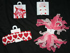 Gymboree SWEET HEART Valentines Day Hair Acc NWT Choice Headband Clips Ponies