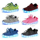 Boy Girl LED Light Shoes for Kids Flashing Sneakers USB Charging US Shipping