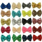 3 Inch Glitter Hair Bows Bling Bows Hair Clips Barrette For Baby Girls Headwear