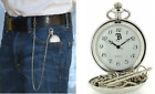 Boxx Analogue Silver Tone Gents Pocket Watch and 14 Inch Chain  SILVER / GOLD image