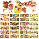 Nail Art Water Decals Stickers Autumn Leaves Leaf Winter Fall Gel Polish