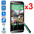 9H 3Pcs Tempered Glass Skin Screen Protector Protective Film Guard For HTC Phone