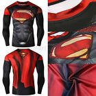 Mens Compression Marvel Superhero Tee Tops Gym Sport Bicycle Superman T-Shirt