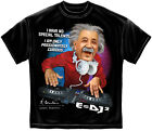 EINSTEIN E=DJ squared  Black Style T-Shirt  - Adult Sizes Brand New