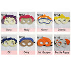 Bubble Guppie Masks - Felt masks for Kids Halloween Costume Birthday Party Favor