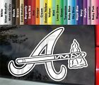 Atlanta Braves A Tomahawk Baseball Fan VINYL STICKER DECAL Color Size on Ebay