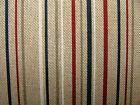 Natural Linen Look Nautical Ticking Stripe Fabric Curtains Upholstery Multi Use