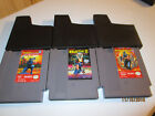 3 NES NINTENDO GAMES NINJA THE GAIDEN 1, II, AND III   CARTRIDGES AND DUST COVER
