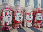 PERSONALISED RETRO LOVE SWEETS VICTORIAN JAR WEDDING VALENTINE GIFT - ANY COLOUR