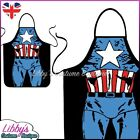 Captain America Marvel Comics Superhero Novelty Funny Apron Adult Cooking BBQ