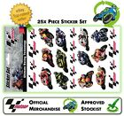 NEW OFFICIAL GENUINE MOTOGP 25 x PIECE STICKER SET OF RIDERS MOTO GP RANGE