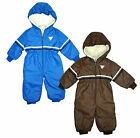 Boys Sportland Faux Fur Lined Hood Padded Snowsuit Ski Suit 1 to 3 Years