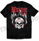 039 Hells Angels NorthSide Spain black T-Shirt model 6 Front printed