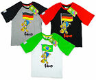 Boys FIFA World Cup 2014 Fuleco Armadillo T-Shirt 2-9 yrs CLEARANCE SALE