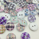 New 20/50/100Pcs Grid Wood Buttons Sewing Kid's Craft Mix Lots Scrapbooking W284