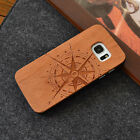 Natural wooden Wood Mobile Phone Carved Case for Samsung s5/s6/s7/s6 edge/s7edge