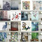 Fabric Waterproof Bathroom Shower Curtain Panel Sheer Decor With Hooks Set PICK