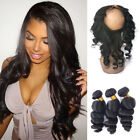 360 Lace Frontal Closure Lace Band Frontal With 3 Bundles Burmese Loose Wave