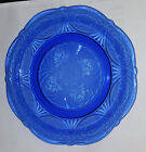 COBALT BLUE ROYAL LACE DINNER PLATE 10 INCH HAZEL ATLAS DEPRESSION GLASS