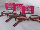3 Pair Foster Grant Women's Readers With Spring Hinges, Free Shipping