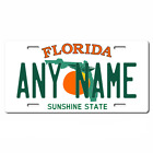 Personalized Florida License Plate for Bicycles, Kid's Bikes & Cars Ver 1