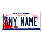 Personalized Maryland License Plate for Bicycles, Kid's Bikes & Cars Ver 2