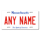 Personalized Massachusetts License Plate for Bicycles, Kid's Bikes & Cars Ver 1