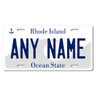 Personalized Rhode Island License Plate for Bicycles, Kid's Bikes & Cars Ver 1