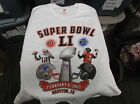 Super Bowl LI New England Patriots vs Atlanta Falcons Tee Shirt New White