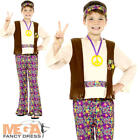 Hippie Boys Fancy Dress 60s 70s Groovy Peace Childs Childrens Kids Hippy Costume