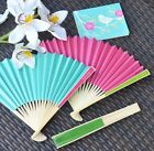 75 Personalized Colored Paper Hand Fan Beach Spring Outdo...