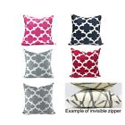 "26x26, 25x25, 24x24 "" inch FYNN Quatrefoil EURO SHAM PILLOW CASE CUSHION COVER"