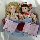 GOLDENVALE PORCELAIN DOLLS COLLECTABLE DAISY AND EVA ORIGINAL BOX  FREE SHIPPING