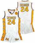 Boys LOS ANGELES LA Basketball Sport Vest Top & Shorts Set 3-14 Years NEW
