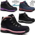 Ladies Womens Leather Walking Hiking Waterproof Ankle Boots Trainers Shoes Size